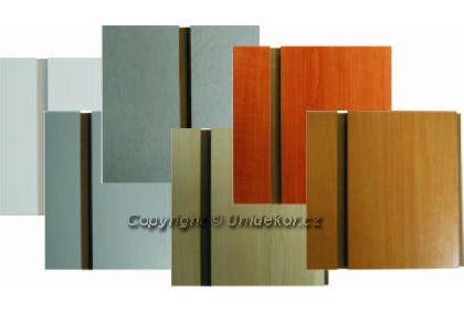 Slatwall panel 800x1200mm, rozteč drážok 100mm, vr. hliníkových líšt,růžná barva