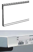 Cenovková lyšta mliečna,100x3,5cm DBR39-W-TP-1000