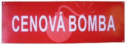 Banner CENOVA BOMBA, vel. 680x230mm