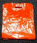 LDPE tašky s C výsekom, svetlo červ, vel. 36x46cm