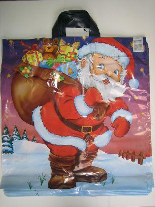 LDPE tašky s 2 úchytmi s vianočným motívom,velký ( Mikuláš s vrecami )