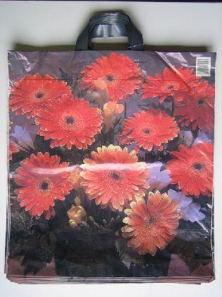 Tašky s kvetinovými motívmi, 43x50cm s 2 uchami. (Gerbery )
