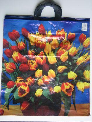 Tašky s kvetinovými motívmi, 43x50cm s 2 uchami. ( Tulipany )