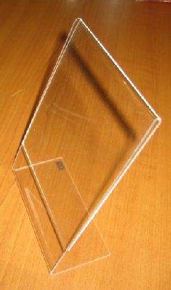 Informačný stojan  L z akrylu HCA4