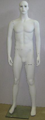 Pánska figurína biela s hlavou